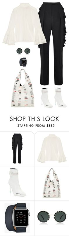 """Confidence"" by xoxomuty on Polyvore featuring Antonio Berardi, Fendi, Off-White, Maison Margiela, Hermès, ootd and polyvoreOOTD"