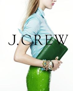 Crew - J. Crew S/S 2013 Catalog. J Crew Style, Mom Style, Green Sequin Skirt, J Crew Catalog, Pencil Skirt Outfits, Evening Outfits, Professional Outfits, Fashion Stylist, Style Guides