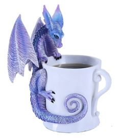 Ebros Amy Brown Whatcha Drinkin Peeking Midnight Teacup Dragon Statue Tall Whimsical Beverage Tea Or Coffee Lover Sculpture Decor Figurine Fairy Statues, Polymer Clay Dragon, 3d Fantasy, Elves Fantasy, Amy Brown, Dragon Artwork, Dragon Figurines, Dragon Jewelry, Dragon Pictures