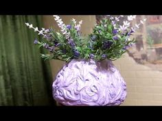 Нежнейшая ваза из бетона и шпатлевки своими руками - YouTube