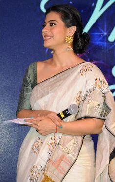 This talented actress who was always ridiculed for her fashion bloopers shocked everyone with her stunning appearance at the recently held Hindustan . Kajol Saree, Bollywood Saree, Bollywood Fashion, Saree Fashion, Handloom Saree, Lehenga Choli, Anarkali, Salwar Kameez, Simple Sarees