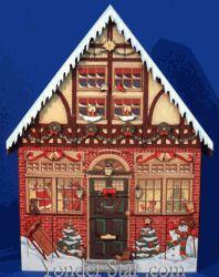 Heirloom Wooden Advent Calendar House  Item# BY-AC01  $79.99