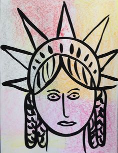 This Old Art Room: 40 Minute Max (crayon rubbing, statue of liberty, peter max)