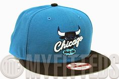 """KIX & LIDZ: New Era 9FIFTY: Chicago Bulls - Midnight Force/Jet Black-Seaglass...Hit the streets fashionably with this new Chicago Bulls New Era Snapback presented in midnight force and jet black. The cap is made to match the Air Jordan IV """"Teal"""" exclusively. The front boasts the Chicago Bulls logo carefully coordinated to match as closely as possible. Perfect for any collector and fan! You can purchase this snapback exclusively at Myfitteds.com."""