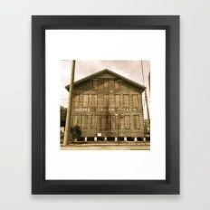 Historic Ybor Building Framed Art Print - Ybor City Cigar District, Tampa, Florida