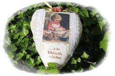 Weihnachtsbäckerei  Nostalgie Herz  im ShabbyChic von Antjes Design auf DaWanda.com
