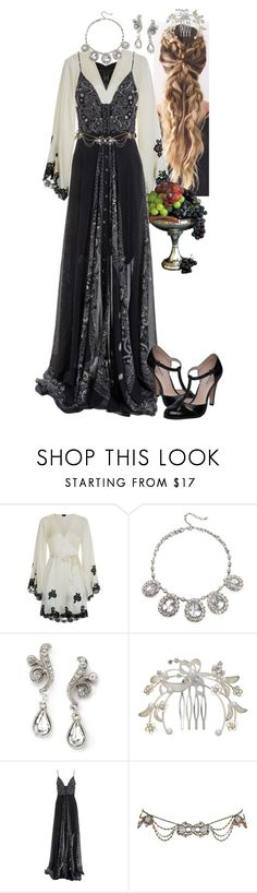 """""""Reign 12"""" by werewolf-gurl ❤ liked on Polyvore featuring Disney, Agent Provocateur, Badgley Mischka, 1928, John Lewis, Marios Schwab and Dune"""
