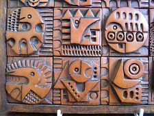 This is a new artist to me too, but some digging around has revealed a craftsman of the with a singular vision. Once you have seen a few pieces, Ron Hitchins' composite ceramic panels are. Ceramic Wall Art, Ceramic Clay, Tile Art, Ceramic Pottery, Picasso Style, Ceramic Workshop, Clay Tiles, Mid Century Art, Arts And Crafts Movement