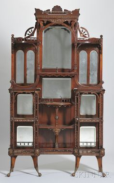 Aesthetic Movement Cherry Étagère, attributed to Merklen Bros Late 1860's or later