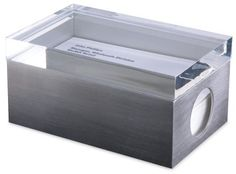 MoMA Page 1 Business Card Box, Clear Lid  Price : $40.00 http://www.theottomus.com/MoMA-Page-Business-Card-Clear/dp/B0048CCSXI