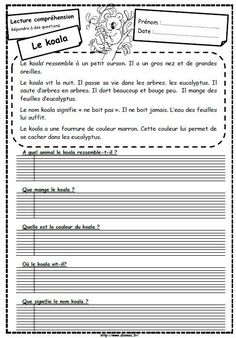 Décrire les animaux French Language Lessons, French Language Learning, French Lessons, Spanish Lessons, Spanish Language, Read In French, Learn French, Reading Comprehension Worksheets, Reading Strategies