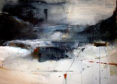 "Margareta Jungerth Boo, ""Red Sunday"", watercolor"