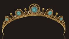 Bavarian Gold & Turquoise Tiara; Worn At: 2016 Bavarian National Day State Banquet