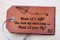 What if I fall Oh but my Darling What if You Fly  Travel
