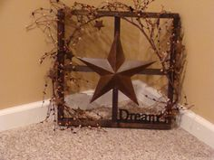 Wooden Window with pipe berries and one word of your by SusiesGift, $30.00