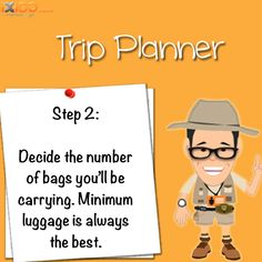 Step 2: Smart luggage planning. #iXiGO #Travel #TripPlanner