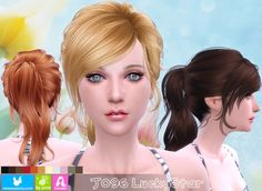 J096 LuckyStar hair (Pay) at Newsea Sims 4 • Sims 4 Updates
