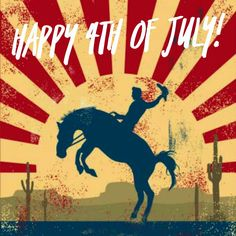 Happy 4th of July! Hope you have a rip roaring holiday 🐴