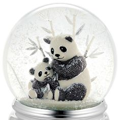 Beaded Panda Water Globe at Things Remembered