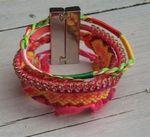 prachtige IBIZA armband zachte kleur roze