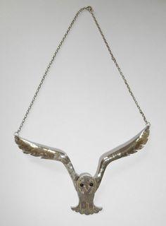 Celtic Art Nouveau Edinburgh Silver Owl in Flight Necklace by Joanna Thomson | eBay
