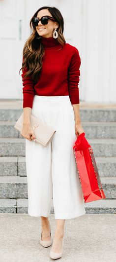 037387770e0f Red and white outfit Christmas Fashion Outfits