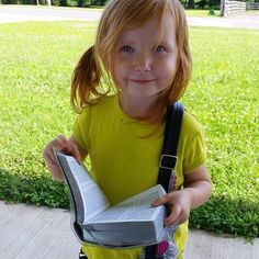 :) So cute with Bible and little bag!