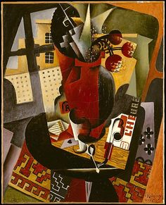 Table by a Window, 1917, art deco painting, oil on canvas, French, Jean Metzinger