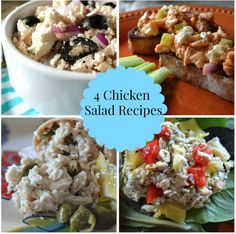 4 Chicken Salad Recipes for the Summer! http://www.momgenerations.com/2014/07/4-easy-ways-to-make-chicken-salad-getting-gorgeous-in-the-kitchen-gettinggorgeous/ #food @sherimcshane
