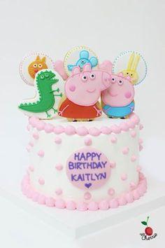Peppa Pig Cake Icing cookies decoration