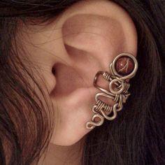 Red Planet Ear Cuff no piercing fantasy cranberry wrap by Jynxsbox