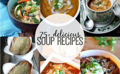 This time of year, soups are the perfect quick and easy meal, so check out our list of 75+ Delicious Soup Recipes!