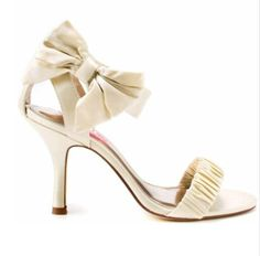 Champagne bow heels