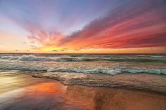 Another colorful Empire sunset ends a great #PureMichigan day. : snaphappymichigan