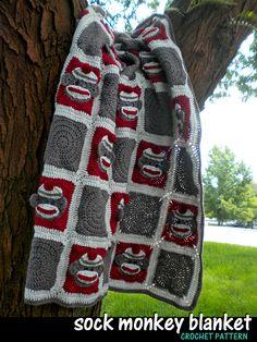 4823c10fe0e Sock Monkey Baby Blanket Crochet Pattern