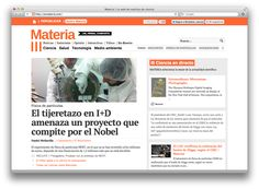 MATERIA es una web de noticias de ciencia, medio ambiente, salud y tecnología, que está online desde el 3 de julio de 2012.