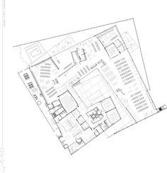 Gallery of Arabian Library / richärd+bauer – 17 – Architecture Architecture Drawing Plan, Architecture Drawing Sketchbooks, Architecture Concept Diagram, Library Architecture, Architecture Design, Public Library Design, Modern Library, City Library, Library Floor Plan