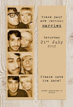 Photostrip bookmark wedding save the date by BeOurGuestDesigns, £2.00