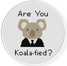 Koalafied Cross Stitch Pattern