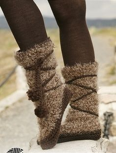 free crochet boot patterns for adults | Pocahontas slippers, FREE crochet pattern