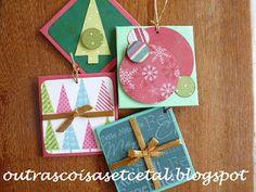 Outras Coisas, Etc e Tal: #sextacriativa de natal - Cartão-Enfeite Edição 2011