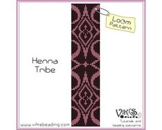 Loom Bracelet Pattern: Henna Tribe - INSTANT DOWNLOAD pdf -Discount codes are available