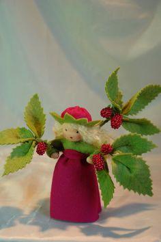 Raspberry flower child http://www.etsy.com/sg-en/shop/KatjasFlowerfairys http://www.katjas-puppenstuebchen.de/