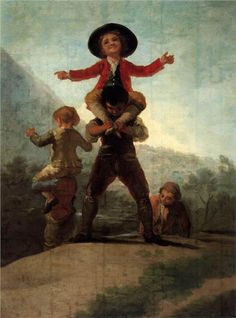 Francisco de Goya y Lucientes. Playing at Giants. 1791. Oil on canvas. 137x104cm. Museo del Prado, Madrid.