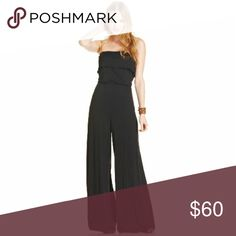 American Rag Black Strapless Wide Leg Jumpsuit. American Rag Black Strapless Wide Leg Jumpsuit. In Excellent condition. Elastic waist  Fits like a medium Lovely!! American Rag Pants Jumpsuits & Rompers
