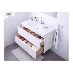 GODMORGON / EDEBOVIKEN Sink cabinet with 2 drawers - white - IKEA
