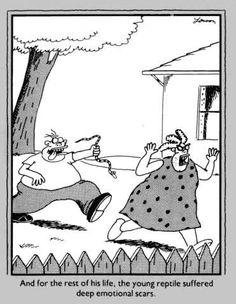 """The Far Side"" by Gary Larson. Far Side Cartoons, Far Side Comics, Funny Cartoons, Funny Jokes, Hilarious, The Far Side Gallery, Gary Larson Far Side, Gary Larson Cartoons, Fun Comics"