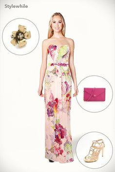 floral maxi dress..