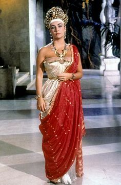Elizabeth Taylor in a Cleopatra costume test
