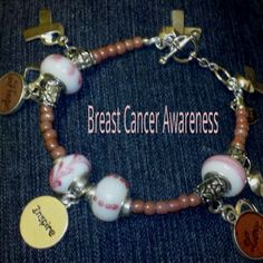 My favorite bracelets to make ... Portions of the materials purchased to make the bracelets go to Breast cancer awareness